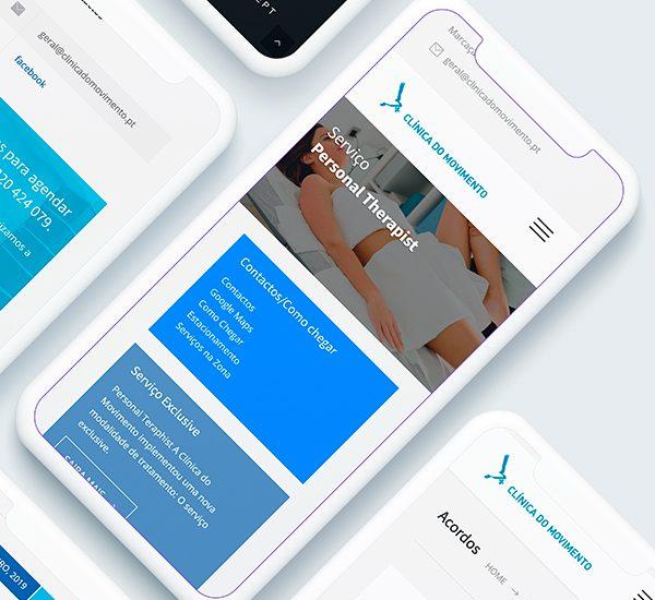 Website Mobile Clínica do Movimento
