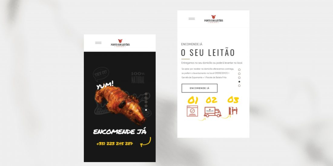 Website Mobile Porto dos Leitões