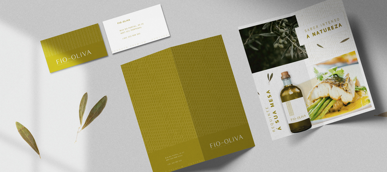 Fio Oliva - cartão visita e díptico